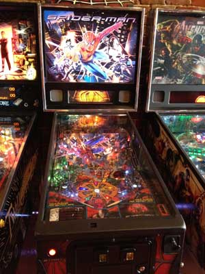 spider man pinball machine